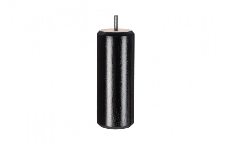 Pied Bois cylindre Noir 17 cm