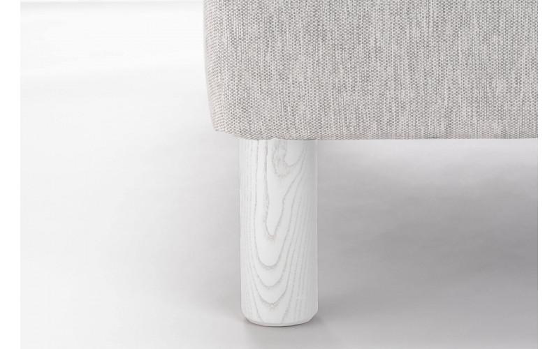 Pied Bois Cylindre Blanc Veine Gris 17 cm